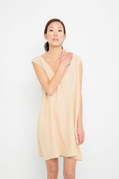 Marlena Dress in Silk Crepe
