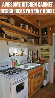 AWESOME KITCHEN CABINET DESIGN IDEAS FOR TINY HOUSE