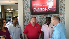 Norman & the team filming a video for our Smooch-A-Pig fund raiser. Go to puritancleaners.com for more info