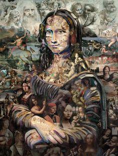 Releitura da famosa pintura de Leonardo da Vinci - Criação de Alopra estúdio.