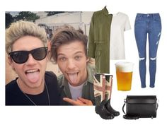 """Glastonbury Festival with Niall and Louis!"" by directionermixer01 ❤ liked on Polyvore featuring Topshop, River Island, Hunter, Alexander Wang and Kinto"