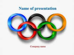 Olympic Results powerpoint template
