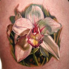 f1b0080e7f378 Orchid Tattoo by Dongkyu Lee aka Q-Tattoos (FY Ink Toronto) so realistic