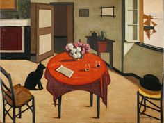 Marius Borgeaud (Swiss, 1861-1924) Interior with two glasses, 1923