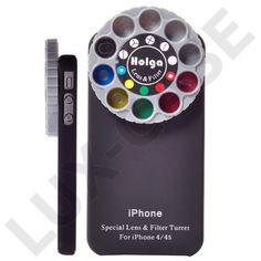 Color Cam Selection Linse (Sort) iPhone 4S Deksel - GRATIS FRAKT!
