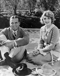 Silent film stars husband and wife, Douglas Fairbanks, Sr. and Mary Pickford