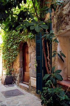 A stone house façade clad in greenery, Ramatuelle, French Riviera