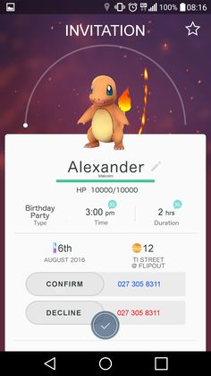 POKEMON GO! Birthday Invitation to our 7 Y/O's Party.