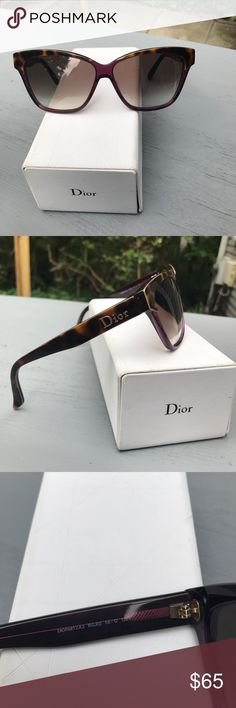 Christian Dior Mitza2 sunglasses Beautiful and stylish. See rub on lens in last picture.  Doesn't impact my vision while wearing. Just had professionally cleaned. Price reflects flaw. Dior Accessories Sunglasses