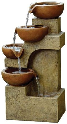 Modern Tier Bowls Indoor Water Fountain by Fountain Cellar, $249 ...