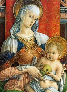 Carlo Crivelli, Madonna col Bambino (Polittico di S. Emidio), 1473, Cattedrale di Sant'Emidio, Ascoli Piceno