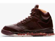 15499460eb9125 Air Jordan 5 Retro Bordeau x PRM 881432-612 Chaussures de Basket Pas Cher  Pour
