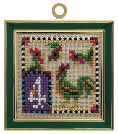 Just Nan - JN166 12 Days Of Christmas • Counted Thread Cross Stitch Designs from Just Nan- 4 calling birds