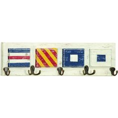 Exeter Wall Hook - semaphore flags, coastal decor
