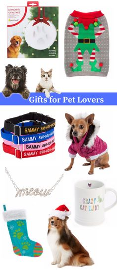 Gift ideas for dogs, cats and pet loving owners!