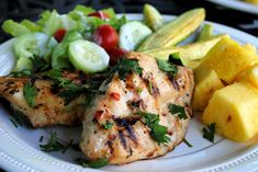 Grilled Cilantro Lime Chicken...cilantro is good to help flush heavy toxins from your body.