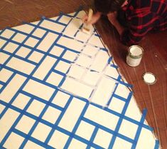 painted backdrop tutorial (for canvas behind television?) -- Love this idea!