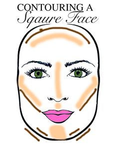 Contour Square Face, Face Shape Contour, Square Face Makeup, Round Face Makeup, Contour Makeup, Contouring And Highlighting, Bridal Makeup Tips, Make It Simple, Make Up