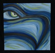 Seattle Seahawks Abstract Painting by ReddBowe on Etsy, $65.00