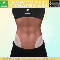 Learn how to get V-shaped abs with Fitonomy App by installing it now. Learn how to get V-shaped abs with Fitonomy App by installing it now. Fitness Workouts, Fitness Motivation, At Home Workouts, Body Fitness, Health Fitness, Fitness Diet, Fitness Weightloss, Workout Bauch, Belly Fat Workout