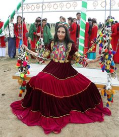 Uzbek traditional dress represented by Seeta Qaseemi