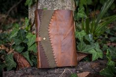 Medieval Leather Journal Rustic Journal Aged Paper by ExSapientia