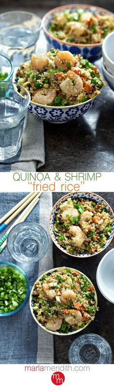 """Quinoa & Shrimp """"Fried Rice"""" 