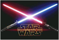 Patrón de Punto de Cruz en alta calidad en PDF listo para descargar e imprimir.  Sable Laser Star Wars  Tamaño: 60 X 40 cm. Colores: 90 DMC. Tela: