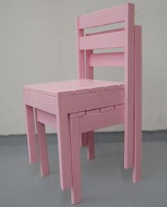 sillas apilables hechas con pallets