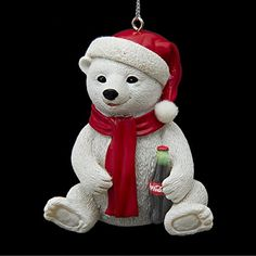 Kurt Adler Coca-Cola Resin Polar Bear Cub Ornament