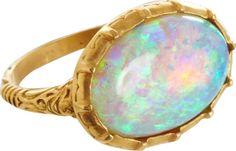 ANACONDA Australian Opal George II Ring - Barneys New York (sold out) 18k yellow gold 'George II' ring featuring a luminous 6ct Australian opal