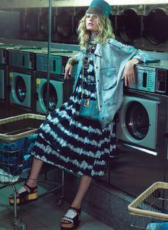 Hanne Gaby Odiele, Katryn Kruger by Henrique Gendre for Vogue Brazil August 2014 1
