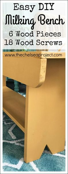 How to Make a Milking Bench You'll Love Forever - The Chelsea Project
