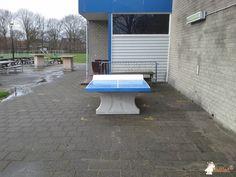 Pingpongtafel Blauw bij Korfbalvereniging Tempo in Alphen aan den Rijn
