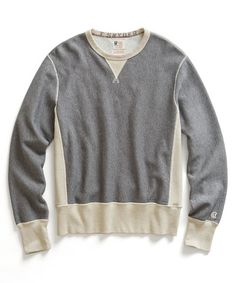 Grey Heather Reverse Weave Sweatshirt