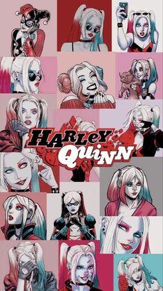Harley Quinn Et Le Joker, Harley And Joker Love, Harley Quinn Drawing, Cute Disney Wallpaper, Cartoon Wallpaper, Wallpaper Backgrounds, Arlequina Margot Robbie, Harey Quinn, Super Heroine
