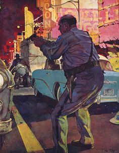 Illustration by Ken Riley for the story Violent City. by totallymystified, via Flickr