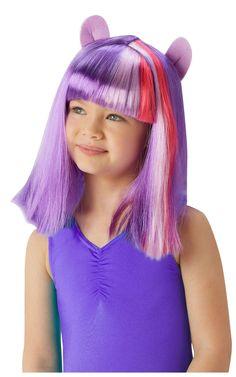 My Little Pony Twilight Sparkle -peruukki. Nyt pikkutyttöjen suosikki My Little Pony sarjaan myös pastellin sävyiset peruukit.