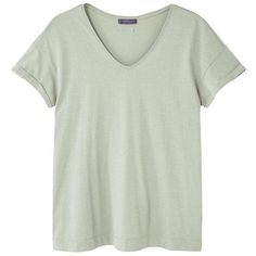 Essential Cotton T-Shirt ($17) ❤ liked on Polyvore featuring tops, t-shirts, mango t shirt, white cotton tee, white cotton tops, short sleeve t shirt and round neck t shirts