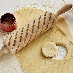 personalised embossing rolling pin by boon homeware | notonthehighstreet.com