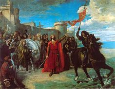 Alfonso X tomando posesión del mar, después de apoderarse de la plaza de Cádiz