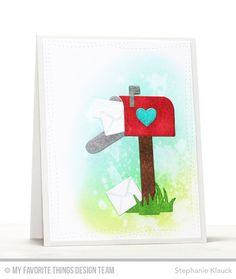 Mailbox Die-namics, Wonky Stitched Rectangle STAX Die-namics, Love Is in the Mail Stamp Set - Stephanie Klauck  #mftstamps