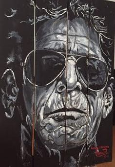 LOU REED , OIL ON WOODEN BY MUÑOZ CERVERA