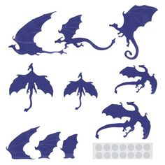 Cool Dragons Wall Sticker Decal Halloween Home Window Decoration Mural