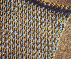 Tunisian crochet weave stitch design