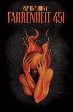 Fahrenheit 451 Book Cover by Raechel Hurd, via Behance