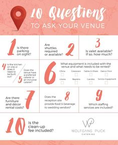 10 Questions To Ask Your Wedding Venue Weddingplanningguide
