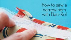 Sewing Techniques Couture Here's an easy way to get a narrow hem on slippery or sheer fabrics using Ban-Rol. - Here's an easy way to get a narrow hem on slippery or sheer fabrics using Ban-Rol. Sewing Projects For Beginners, Sewing Tutorials, Sewing Patterns, Dress Patterns, Dress Tutorials, Coat Patterns, Sewing Hems, Hand Sewing, Sewing Coat