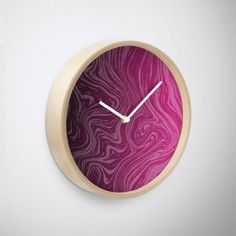 'Violet Marble' Clock by Rizwana Khan Purple Marble, Clock, Home Decor, Watch, Decoration Home, Room Decor, Clocks, Home Interior Design, Home Decoration