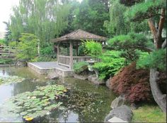 Kasugai Japanese Garden, This is a traditional Japanese gardening the downtown area of  Kelowna, British Columbia